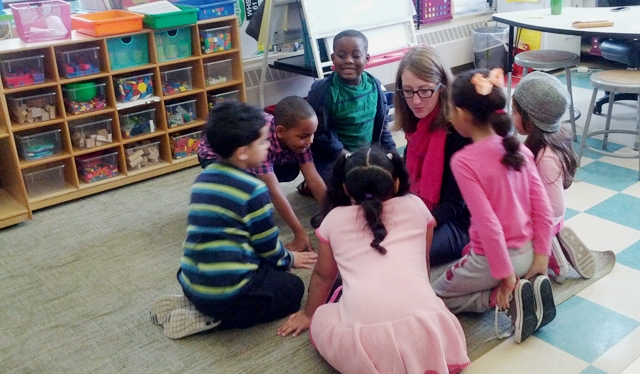 Highlander Charter first grade teacher encourages learning to students through independence, teamwork